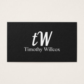 Elegant design Modern Minimalist Black Business Card