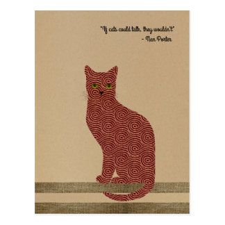 Elegant designed cat. Only for true cat lovers! Postcard