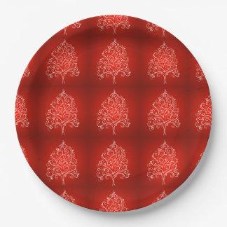 Elegant Designer Christmas Tree Holiday Xmas 9 Inch Paper Plate