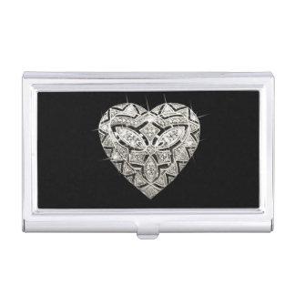 Elegant Designer Heart Business Card Holder