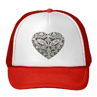 Elegant Designer Heart Hat