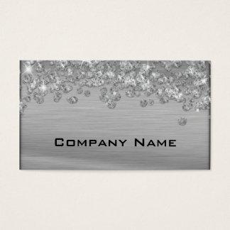 Elegant Diamond Appeal Silver  Business Card