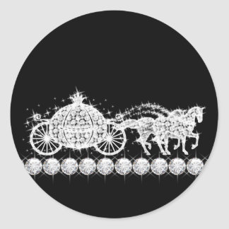 Elegant Diamond Carriage Princess Stickers