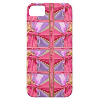 Elegant Diamond Pattern Rose Pink Smile Happy Show iPhone 5 Cases