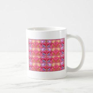 Elegant Diamond Pattern Rose Pink Smile Happy Show Mugs
