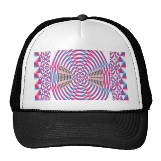 Elegant Diamond PINK Spiral Trucker Hats