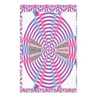 Elegant Diamond PINK Spiral Stationery Paper