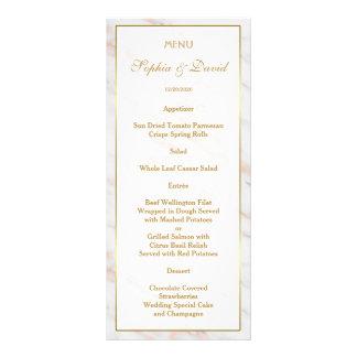 Elegant Diamond Rose Gold Marble Wedding Rack Card