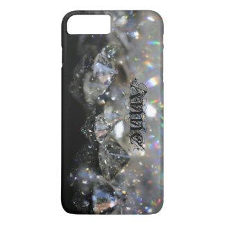Elegant Diamonds Black and White Shiny Sparkles iPhone 8 Plus/7 Plus Case