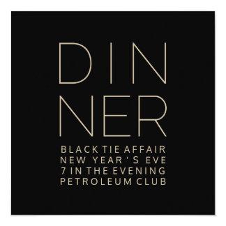 Elegant Dinner Invitation Card