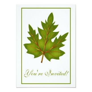 "Elegant Dinner Party Invitation Autumn Leaf 3 5"" X 7"" Invitation Card"