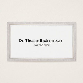 Elegant Doctor's Office Professional Business Card