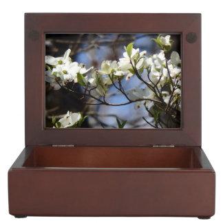 Elegant Dogwood Blossoms Keepsake Box