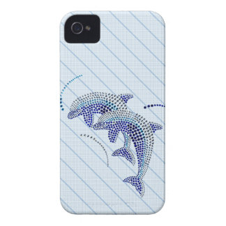 Elegant Dolphin Jewels iPhone 4 Case-Mate Cases