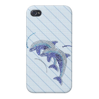 Elegant Dolphin Jewels Cases For iPhone 4