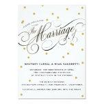 "Elegant Dot Gold Wedding Invitation 5"" X 7"" Invitation Card"