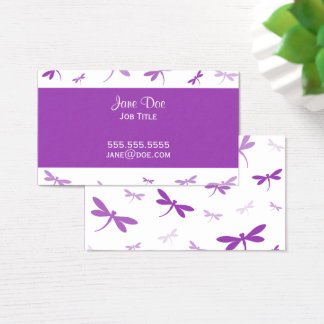 Elegant Dragonfly Design - Bright Purple Business Card