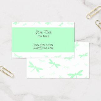 Elegant Dragonfly Design Business Card