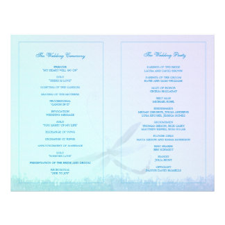 Elegant Dragonfly Wedding Ceremony Bi Fold Program Flyer