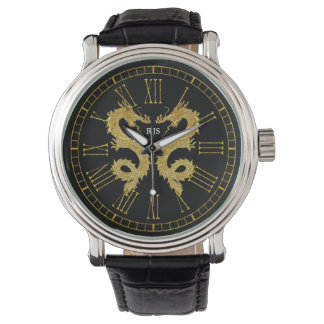 Elegant Dragons Monogram Personalize Watch