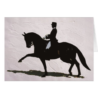 Elegant Dressage Horse & Rider Greeting Card