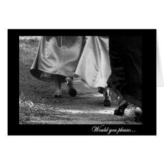 Elegant Dresses General Bridesmaid Request Card