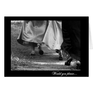 Elegant Dresses Matron of Honor Greeting Card
