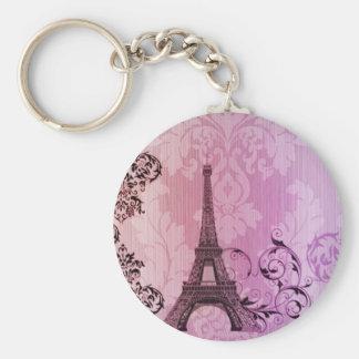 elegant  eiffel tower floral vintage  paris key chain