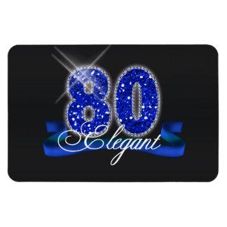 Elegant Eighty Sparkle Rectangle Magnets