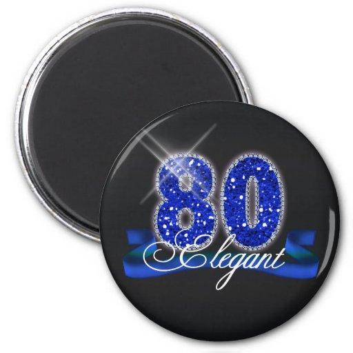 Elegant Eighty Sparkle Magnet