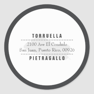 Elegant: El Salvador Map Round Sticker