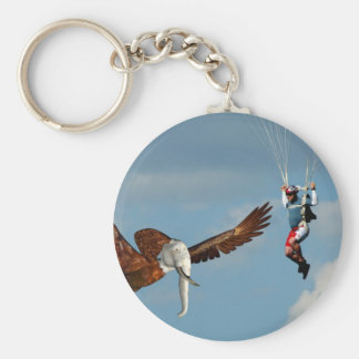 Elegant Elephant Eagle Basic Round Button Key Ring