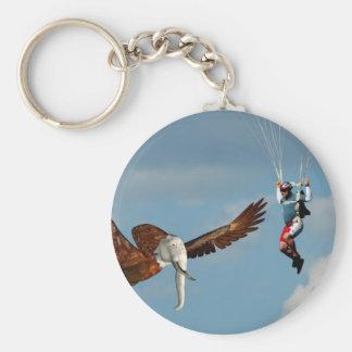 Elegant Elephant Eagle Basic Round Button Key Ring