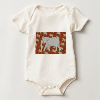 Elegant Elephant Infant Organic Creeper