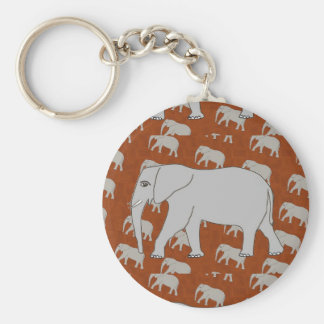 Elegant Elephant Keychain