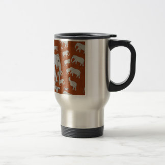 Elegant Elephant Mug! Stainless Steel Travel Mug