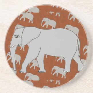Elegant Elephant Sandstone Coasters