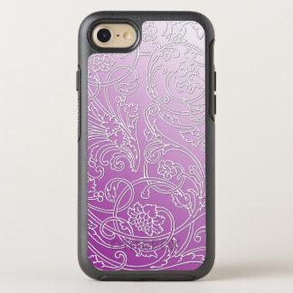 Elegant Embossed Filigree Floral on Pastel Purple OtterBox Symmetry iPhone 7 Case