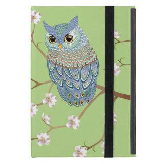 Elegant Emerald Blue Owl Powis iPad Mini Case