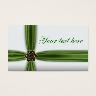 Elegant Emerald Green Business Card
