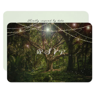 Elegant, Enchanted Forest, Woodland Wedding Card