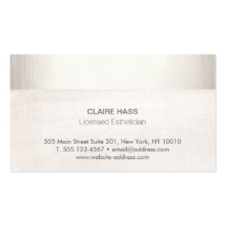 Elegant Esthetician White marble and Faux Silver F Pack Of Standard Business Cards
