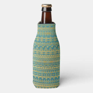 Elegant Ethnic Golden Pattern | Bottle Cooler