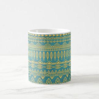 Elegant Ethnic Golden Pattern   Classic Mug