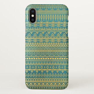 Elegant Ethnic Golden Pattern   iPhone X Case