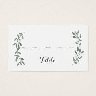 Elegant Eucalyptus Wedding Flat Seating Place Card
