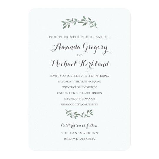Zazzle Wedding Invitations.Elegant Eucalyptus Wedding Suite Invitation
