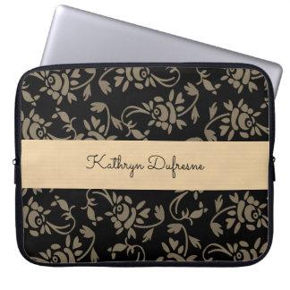 Elegant European Floral Laptop Sleeve