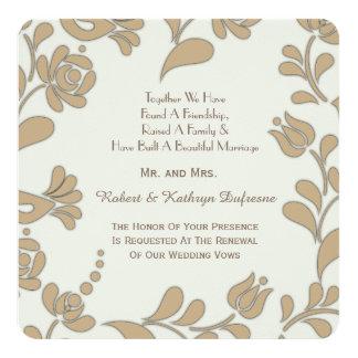 Elegant European Folk Art Wedding Vow Renewal Card