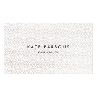 Elegant Event Planner White on White Pattern Pack Of Standard Business Cards